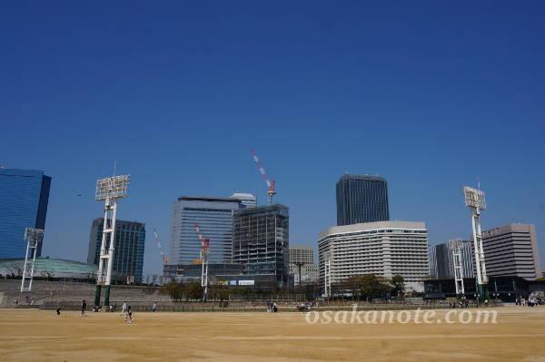 大阪城のグラウンド